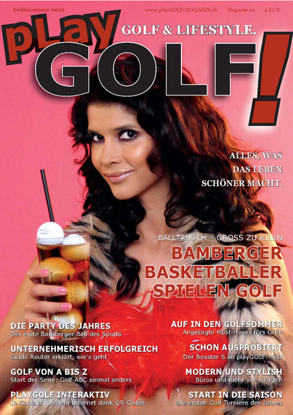 Magazin playGOLF! GOLF und LIFESTYLE. Das Cover.